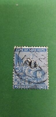 """1877 Griqualand West """"Hope""""  Sc#47 (i)  4p  blue(typell) used"""