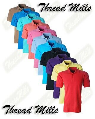 Mens Classic T Shirts Pique Polo Shirt Plain cotton T-Shirts Short sleeves Tops