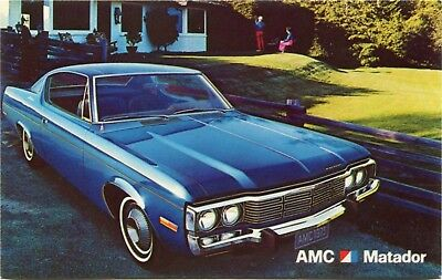 (#325) 1973 American Motors AMC Matador Automobile Car Dealer Factory Postcard