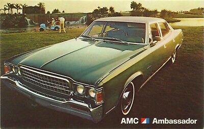 (#324) 1973 American Motors AMC Ambassador Automobile Car Dealer Postcard