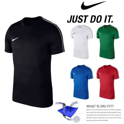 Nike JUNIOR BOYS T Shirt Football Sports Training Top Jersey Gym Tee XS S M L XL