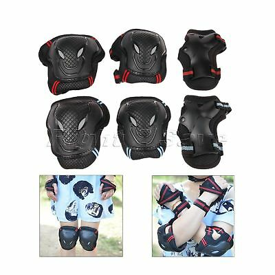 6Pcs Protective Safety Gear Pad Guard Skateboard Roller Blading Elbow Wrist Knee