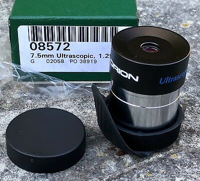 "Orion 7.5mm Ultrascopic 1.25"" Eyepiece Lens For Telescope."