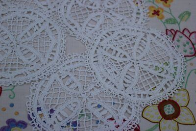 Set of lovely vintage Befordshire lace crochet doilies