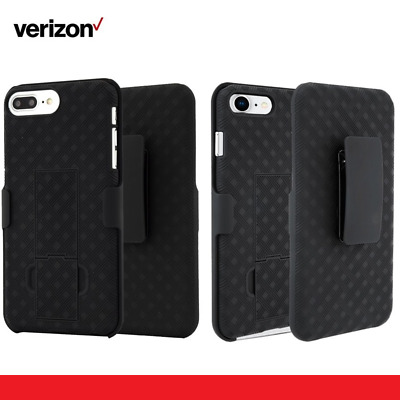 Verizon 2-IN-1 Shell Holster Clip / Kickstand Combo Case For iPhone X/Xs 6/7/8