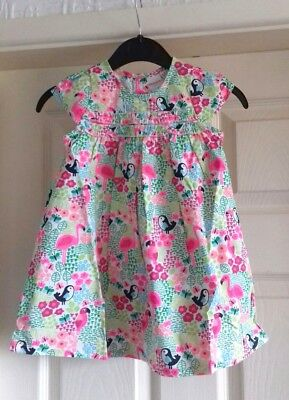 Baby Girls  Blue Zoo Summer Cotton dress ex Debenhams ,6,9,12,18 months BRANDNEW