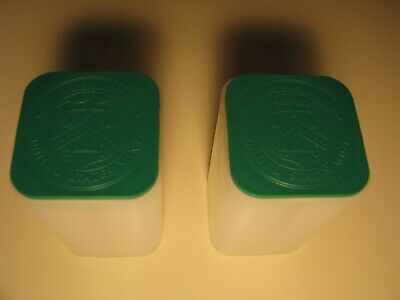 TWO LIGHTLY USED EMPTY US MINT SILVER EAGLE TUBES GREEN *No Coins* STORAGE TUBES