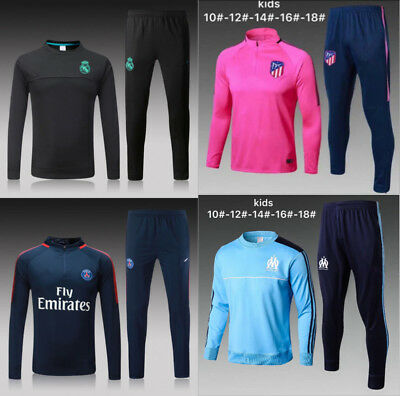 17-18 Soccer Tracksuit Survetement  Kids Boys Football Sportswear Training Suit