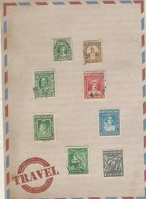 Newfoundland British Colony Canada Nice lot of 8 Vintage Stamps D9
