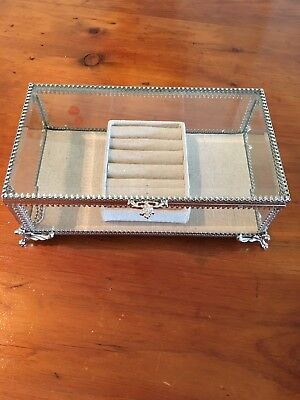 NICOLE MILLER Home Sm Decorative Glass Gift Trinket Box Jewelry