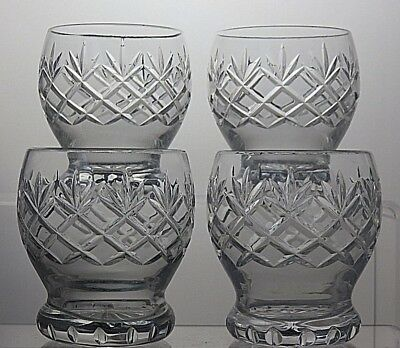 Cut Glass Crystal Whiskey Tumblers Set Of 4