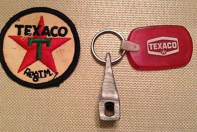 """Vintage, Texaco """" Embroidered Patch & Texaco Keychain  Collectibles $$"""