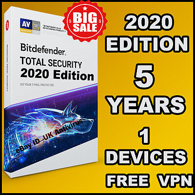 Bitdefender Total Security 2019 - 5 Years 1 Device Activation - Download