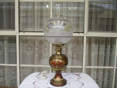 Lovely Vintage Electric Lamp Gone With The Wind Style Estate