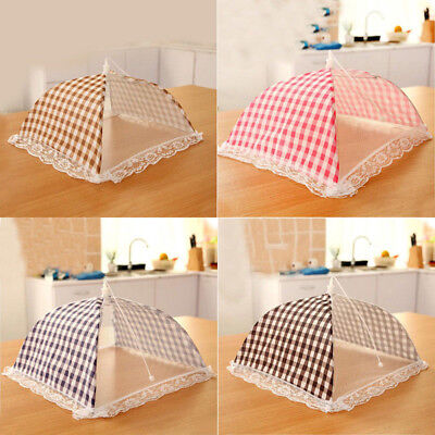 Foldable Kitchen Food Cover Tent Umbrella Outdoor Camp Cake Cover Lace Mesh Net