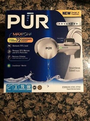 PUR MAXION Advanced WATER FILTRATION SYSTEM 3-STAGE Faucet Mount ...