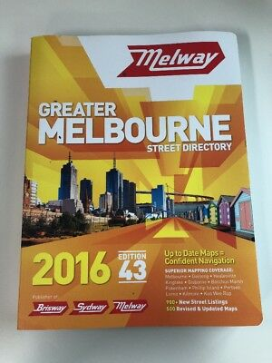 Melway Greater Melbourne Street Directory 2016 Edition 43 Rrp $60