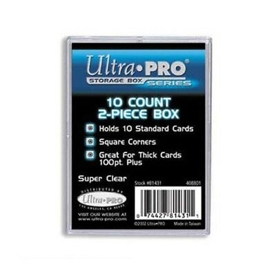 ULTRA PRO 10 Count Standard Trading Card Storage Box 2-Piece Clear 100pt