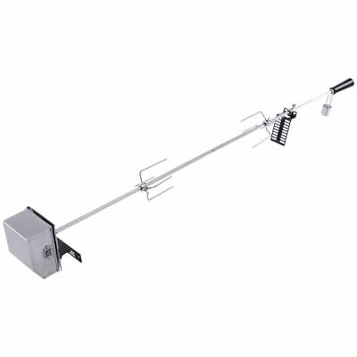 "Universal Rotisserie Kit Heavy Duty for Most Burner Grills 47"" Square Spit Rod"