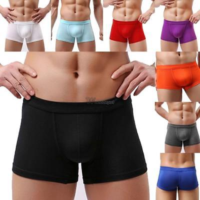 Men Solid Sexy Breathable Stretchy Soft Basic Underwear Briefs WT88 01