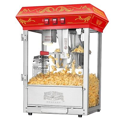 Great Northern Popcorn Red Good Time Popcorn Popper Machine, 8 Ounce