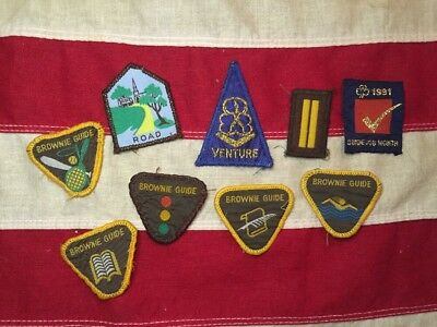 Vintage Retro Brownie Guide Patches