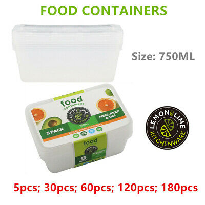 750ML TAKE AWAY CONTAINERS with LIDS DISPOSABLE PLASTIC FOOD CONTAINER 750ml WMC