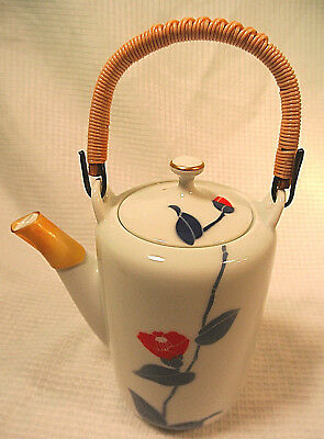Modern Japanese Porcelain Teapot Arita Fukagawa Seiji Mountain and Stream VGcond