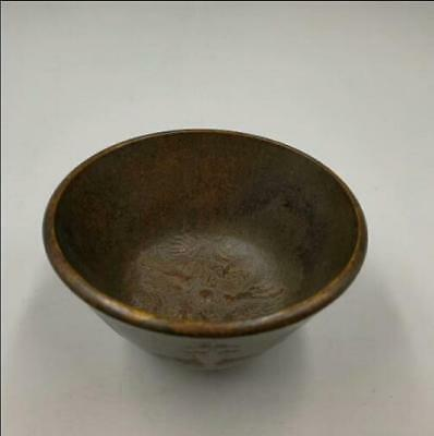 Chinese Handmade Carved  Bowl By The Five Emperors Of The Qing Dynasty