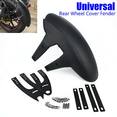 Pro Universal Motorcycle Rear Wheel Cover Splash Guard Fender  Mudguard Bracket