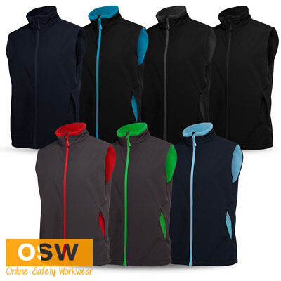 Mens Mechanical Stretch Breathable Warm Water-Resistant Softshell Vest S-5Xl