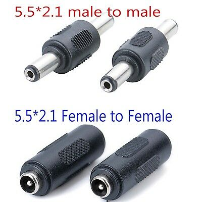 5.5mmx2.1mm Female to Female male to male DC CCTV Power Coupler Adapter gm