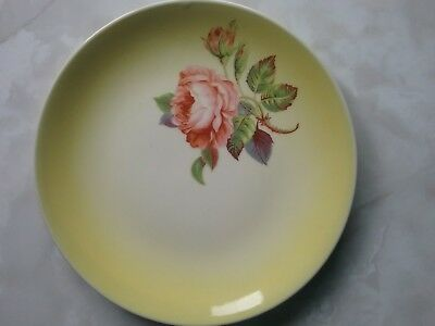WEMBLEY WARE plate with hand painted rose design