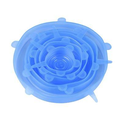 Baoblaze Stretch and Fresh Silicone Wraps Seal Cover Cling Film Lid Blue