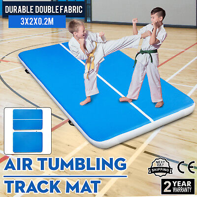 10x6Ft Air Track Floor Tumbling Inflatable Gym Mat Yoga Pro Gym Mat