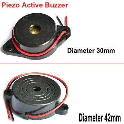 Diameter 30mm~42mm Height 16mm DC3-24V With Flying Leads Piezo Active Buzzer