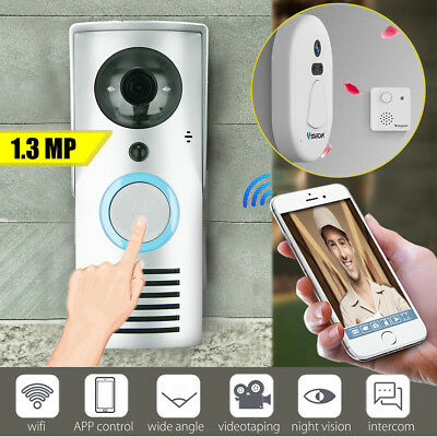720P Smart Wifi Video Citofono Camera Campanello Casa Porta Ir Visione Notturna