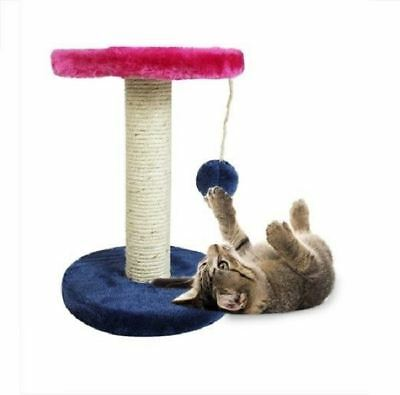 New Kitten Cat Scratch Post With Ball String Toy Play Hanging Ball Sisal Scratch