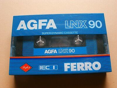 Agfa LNX 90 Vintage 1982 Ferro Blank Audio Cassette New Made In Germany