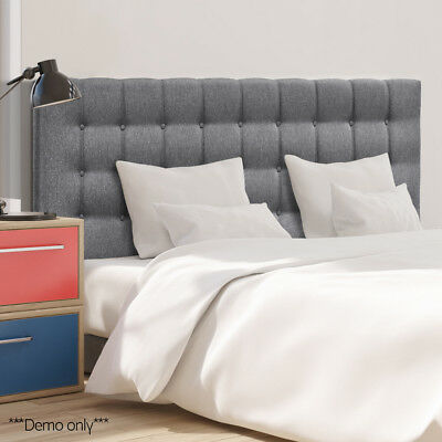 King Size Bed Head Headboard Bedhead Upholstered Button Fabric Base Frame