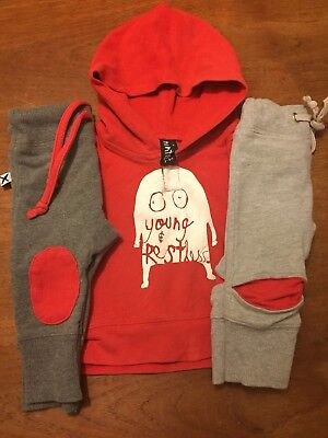 Minti Boys 3-6months Pants And Jumper Set