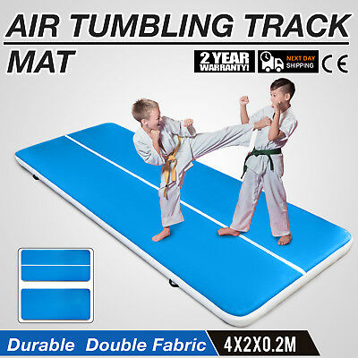 13Ft Air Track Floor Tumbling Inflatable Gym Mat Gymnastic AirTrack Fitness