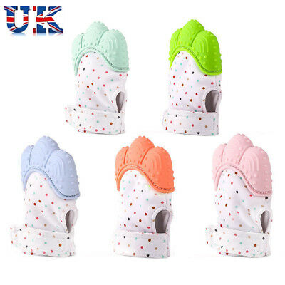 Baby Mitts Teething Mitten Teething Glove Silicone Candy Wrapper Soft Teether