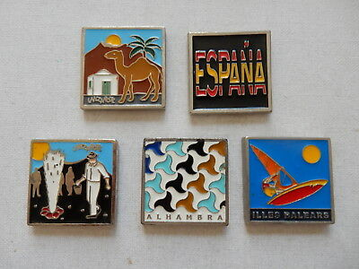 One Selected Square Metal Souvenir Fridge Magnet from Spain