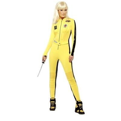 Women's Uma Thurman Kill Bill Fancy Dress Costume Quentin Tarantino Film Hen Fun