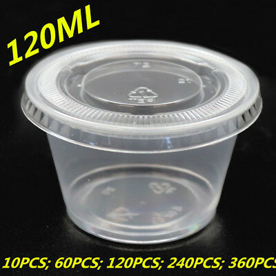 120ML Plastic Dipping Sauce Disposable Small Container Cups Lids Takeaway WMCV