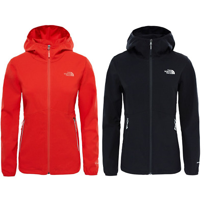 THE NORTH FACE TNF Nimble SoftShell Hiking Outdoor Hoodie Jacket Hooded Womens