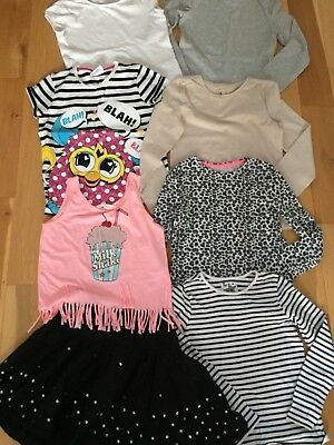 Girls Bundle Of Clothes Age 9 - 10 Years 9 X Items Outfits