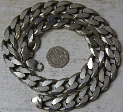 Very Heavy Large Chunky Silver Necklace -  224 Grams - L@@k - Rare