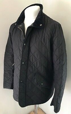BARBOUR Men's Black Classic Quilted Zip Up Jacket Size M